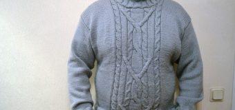 Вязание свитера мужского и женского, для детей, со схемами