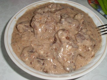 Печень в молочном соусе