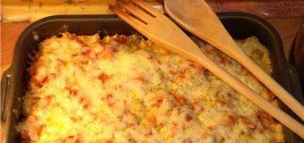 Пельмени с овощами и сыром, запеченные в духовке