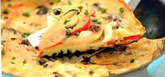 Корейская «пицца» с морепродуктами