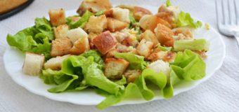 Хрустящий салат с курицей
