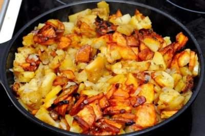 употребление жареной картошки