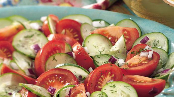 огурцы с помидорами