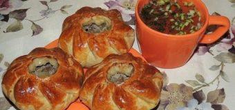 Вак балиш (маленькие пироги с мясом и картошкой)